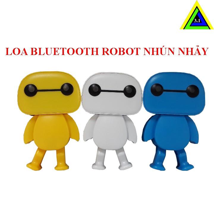 Loa Nghe Nhạc Bluetooth Robot B808 Nhún Nhảy Siêu Dễ Thương