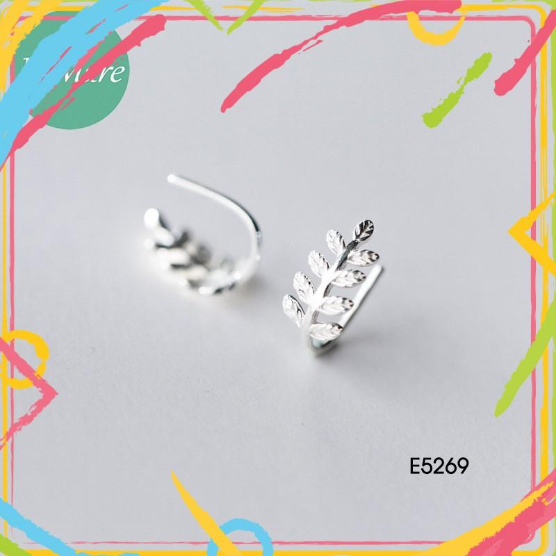 Trang Sức Bạc Nữ Cao Cấp__Khuyên tai bạc nữ cá tính  bạc Lá me E5269 - 15454004 , 2345867203 , 322_2345867203 , 282000 , Trang-Suc-Bac-Nu-Cao-Cap__Khuyen-tai-bac-nu-ca-tinh-bac-La-me-E5269-322_2345867203 , shopee.vn , Trang Sức Bạc Nữ Cao Cấp__Khuyên tai bạc nữ cá tính  bạc Lá me E5269