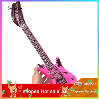 ♝♝♝PVC Inflatable Simulated Guitar Balloon Rock Instrument Kids Toy Party Decor