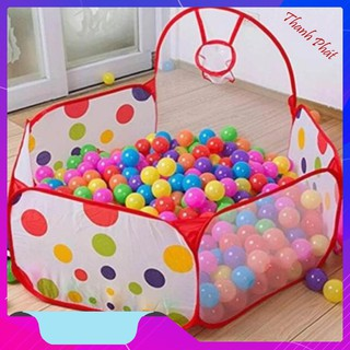 Lều bóng nhà banh trẻ em tặng kèm 200 bóng [HÀNG SIÊU RẺ]