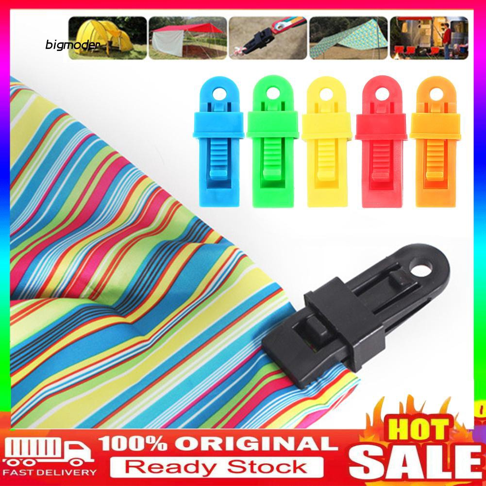 BIG-5Pcs Windproof Outdoor Camping Hiking Tent Canopy Clip Clamp Fixing Hook Buckle