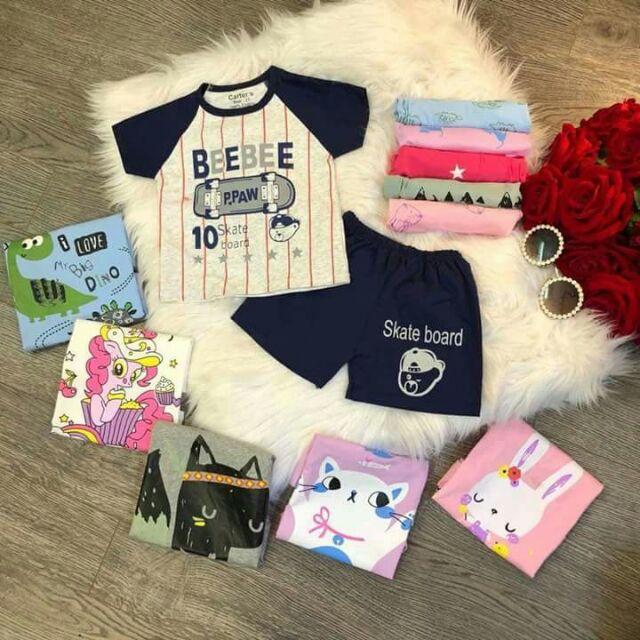 Combo cho khách sỉ bộ cotton cho bé trai và bé gái