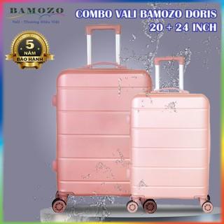 Combo Vali Kéo Du Lịch Size 20 Inch Và 24 Inch Nhựa Cao Cấp Giá Rẻ Bền Đẹp Bảo Hành 5 Năm Bamozo Doris thumbnail