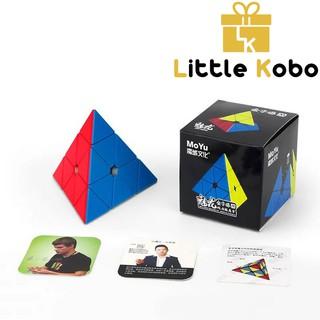 Rubik Pyraminx MoYu MeiLong M Pyraminx Magnetic Series Rubic Tam Giác Stickerless Pyramid thumbnail
