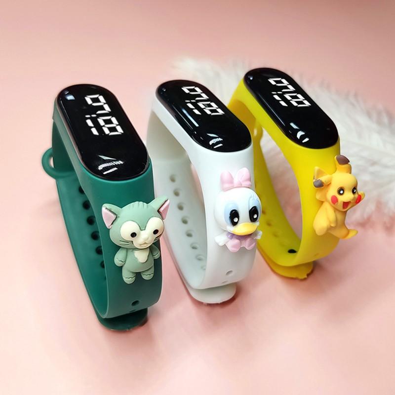 Đồng hồ ZGO DISNEY bằng silicon thiết kế đáng yêu cho trẻ em