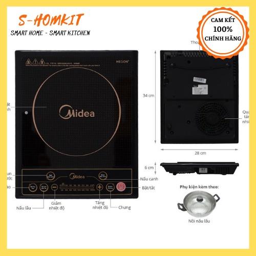 Bếp từ Midea MI-SV19EH hàng chính hãng , bảo hành 12 tháng toàn quốc