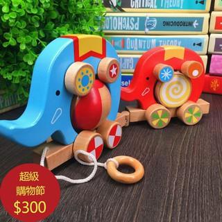 voi con đồ chơi bằng gỗ