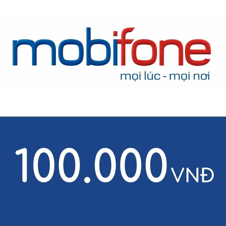 Nạp điện thoại Mobifone 100K