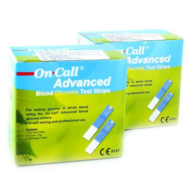 QUE THỬ ĐƯỜNG HUYẾT ON-CALL ADVANCED (25 QUE RỜI)