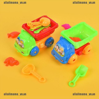 alimama.vn # New 11 Pieces Set Small Beach Toys Summer Play house car Kids Baby Child Outdoor