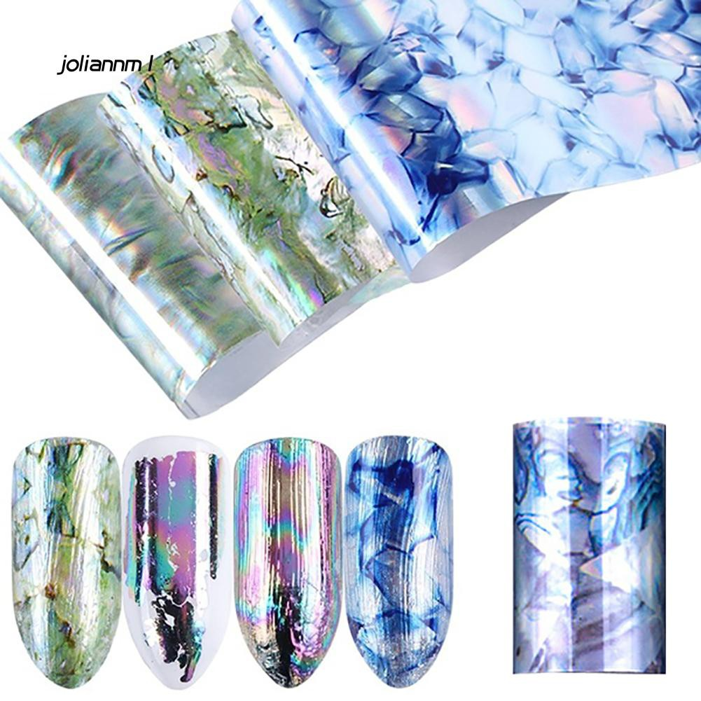 Set 10 cuộn giấy sticker màu theo nhiệt độ dùng để trang trí móng tay tiện dụng