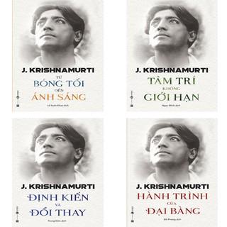 Sách - Combo Krishnamurti: Từ Bóng Tối Đến Ánh Sáng, Tâm Trí Không Giới Hạn, Định Kiến Và Đổi Thay, Hành trình đại bàng