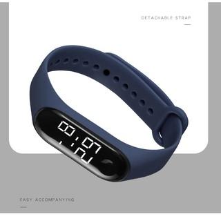 【WB-7COLOR】Đồng hồ Ulzzang sport unisex có đèn LED, chống thấm nước hiệu quả