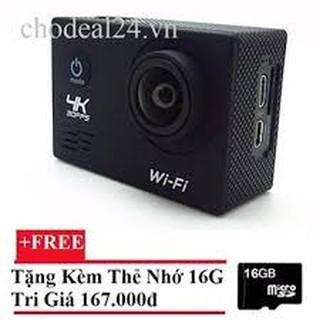 Camera hành động Waterproof ACTION CAMERA WIFI MultiPurpose 4K PLUS ULTRA HD (Đen)++ Tặng thẻ nhớ 16GB thumbnail