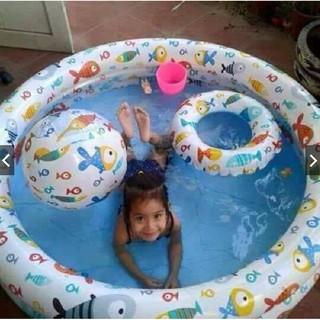 Bộ Bể Bơi 3 Chi Tiết Tặng Kèm Bóng + Phao
