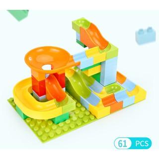 Lego lắp ghép mô hình thông minh 62 chi tiết có máng trượt