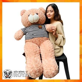 (100% Ảnh thật) Gấu Bông teddy sữa 1M4 khổ vải – cao 1M2 Rẻ Vô Địch-FREESHIP
