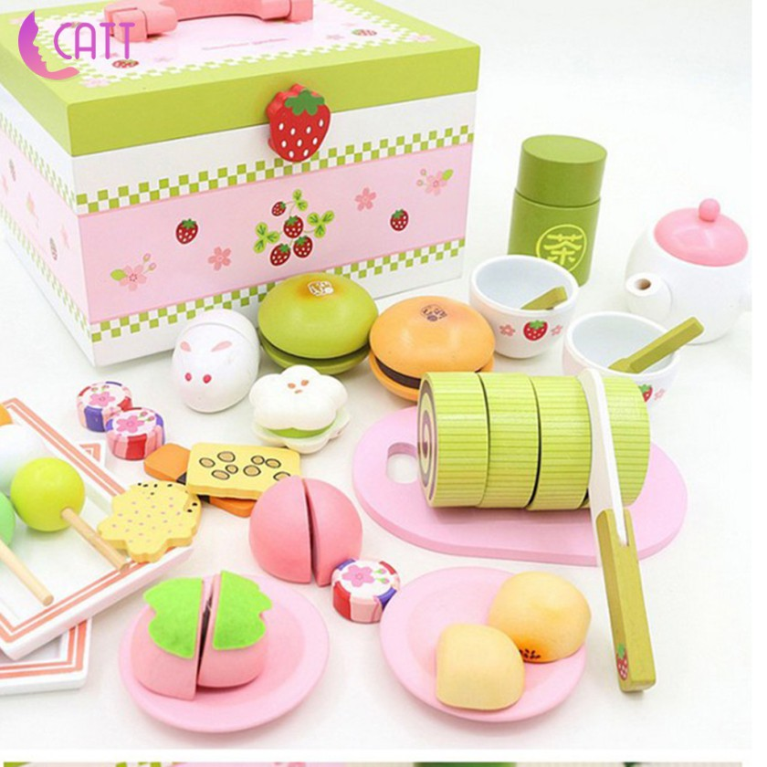 [CATT] Kitchen Toys Pretend Play Cutting Simulation Cake Food Toy Kitchen for Kids