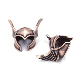 [Bead – Paracord bracelet] Mũ giáp lính Viking – Winged Helmet (Màu đồng đỏ)