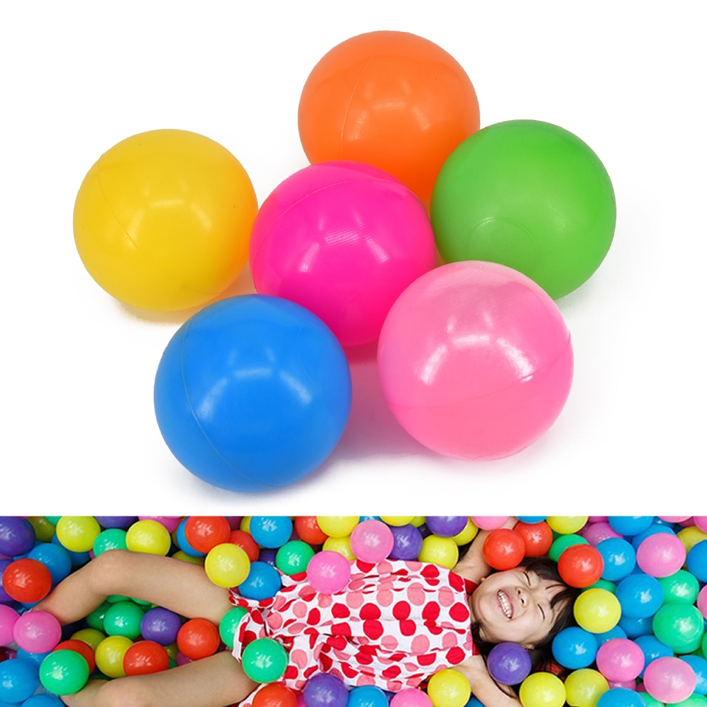 100Pcs 7cm Colorful Ball Fun Ball Soft Plastic Ocean Ball Baby Kid Toy Swim Toy