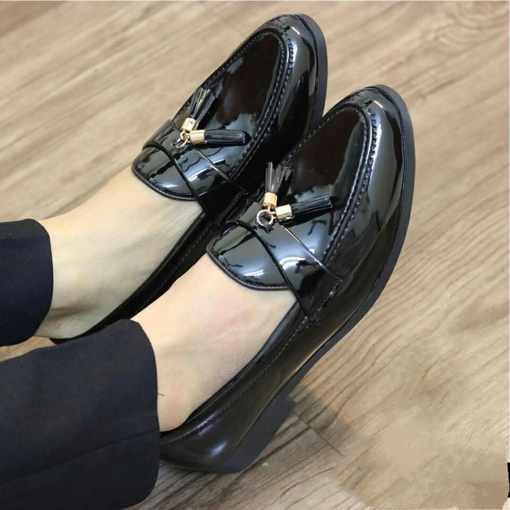 Doanhcb [SALE CHỈ 1 NGÀY] Giày tây nam da bóng chuông lịch lãm 44