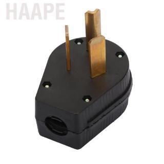 Black NEMA 10-30P US Type Three Hole Industrial Plug 30A 125V-250V Power Output