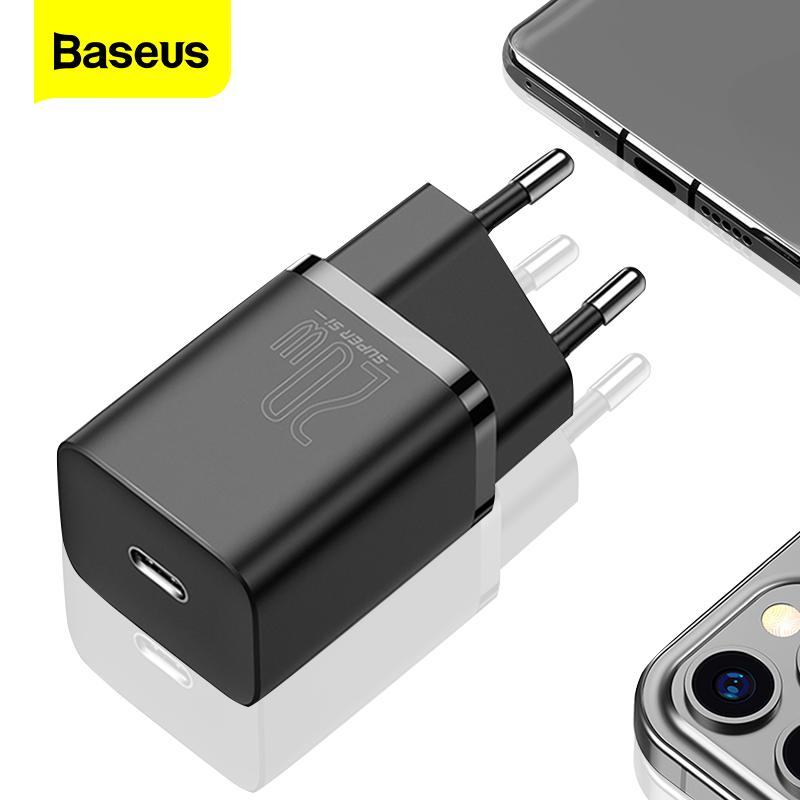 Củ Sạc Baseus Si QC 3.0 20W Hỗ Trợ Sạc Nhanh Type C PD Cho iPhone 12 Pro Max