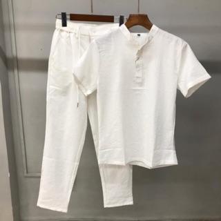 Yêu Thích(SALE SỐC- ẢNH THẬT 100%) BỘ ĐŨI NAM Quần Dài Áo Cộc ( Mát - Nhẹ Như Không) atb shop thời trang nam cao cấp 2020