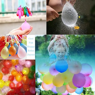OMYBABY 111pcs Colorful Water Balloons Refill Kit with Rubbers Bands for Party Birthday Latex Water Ball Supplementary F