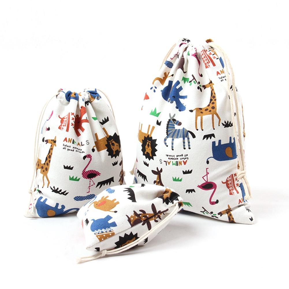 Canvas Cartoon Wear Resistant Portable Travel Home Multifunctional Cute Practical Storage Bag