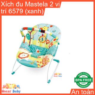 [Mã NGUYN giảm 15k đơn bất kỳ] Xích đu kiêm ghế nằm dành cho trẻ em có khung bằng sắt bọc đệm 6579 hiệu Mastela