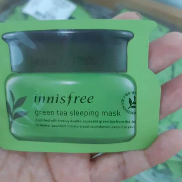 Combo 3 gói Sample Mặt nạ ngủ trà xanh Innisfree Green Tea Sleeping Mask - 2419170 , 1125506505 , 322_1125506505 , 25000 , Combo-3-goi-Sample-Mat-na-ngu-tra-xanh-Innisfree-Green-Tea-Sleeping-Mask-322_1125506505 , shopee.vn , Combo 3 gói Sample Mặt nạ ngủ trà xanh Innisfree Green Tea Sleeping Mask