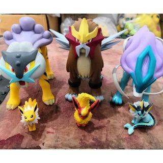 Mô hình Pokemon_Trio Beast Legendary (Entei, Suicune, Raikou)