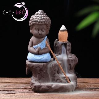 Thác Khói Trầm Hương Gốm Cao Cấp - Phật Tọa Bên Suối 2