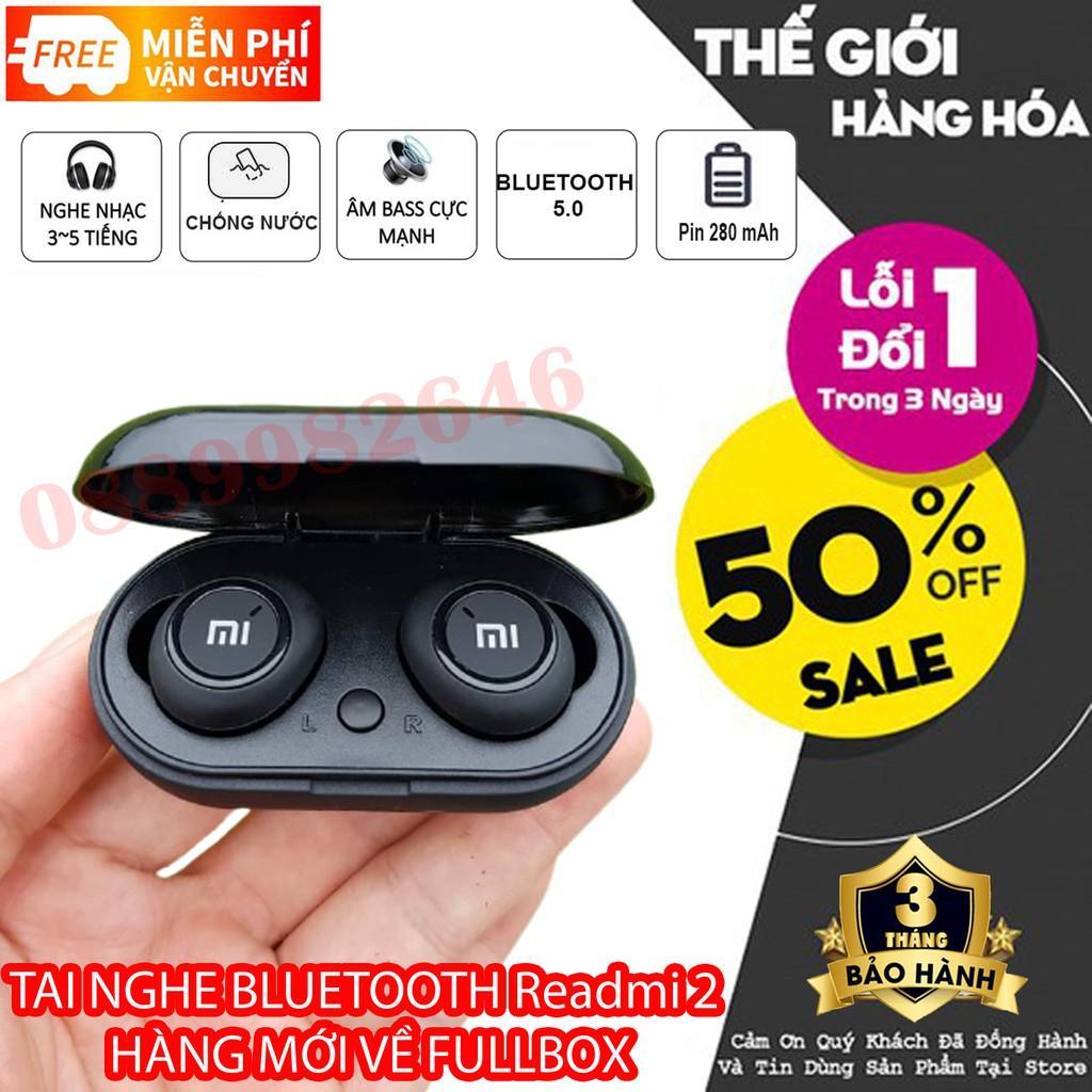 Tai nghe bluetooth Redmi 2 Hàng FULLBOX - Công Nghệ 5.0, Cảm biến thông minh, Âm Thanh Cực Hay