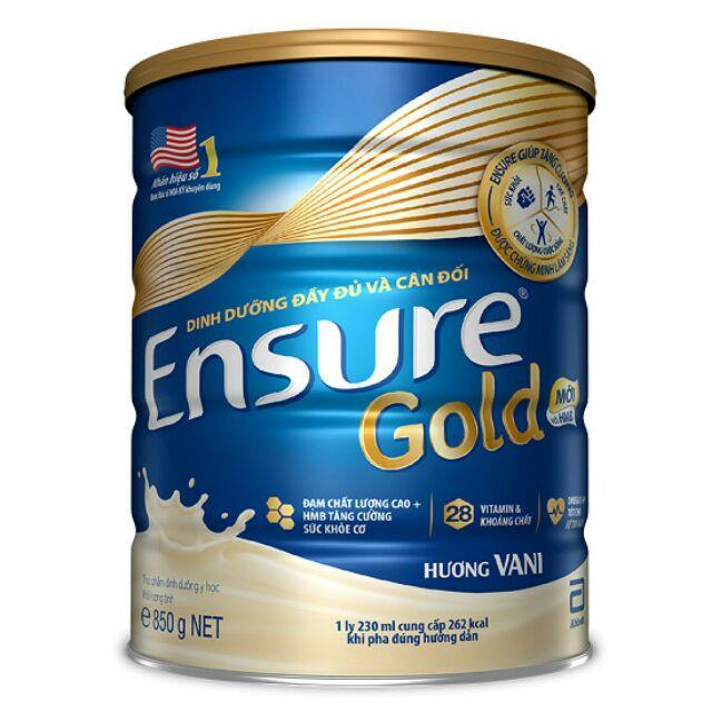 Sữa Ensure gold hương vani - lon 850g (date tháng 4/2021)