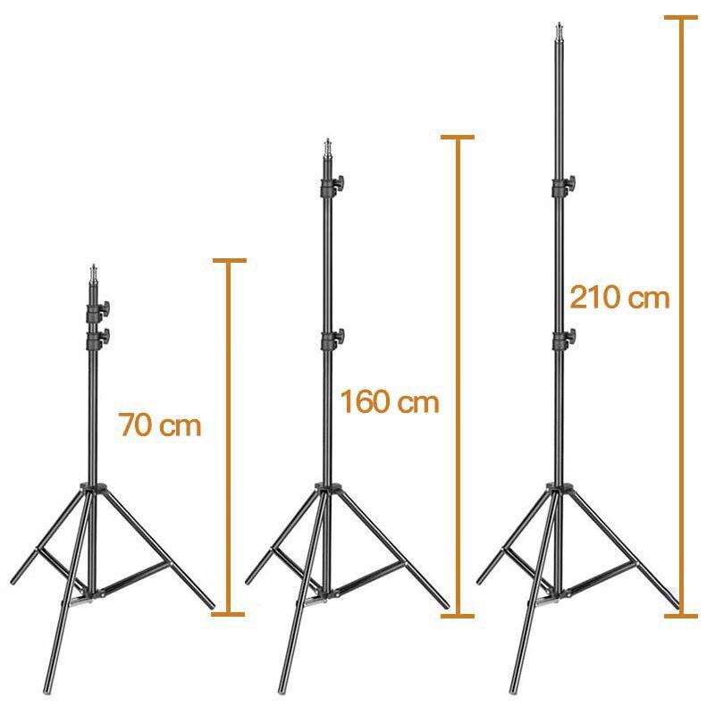 Chân điện thoại livestream tiktok Chân đèn chụp ảnh, quay phim, + đầu kẹp điện thoại cao 2m1 - đầu bi Q29