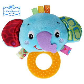 Baby BB sounds rattle hand holding teether rattles baby bells 0-1 plush toys animal rattles Elephant