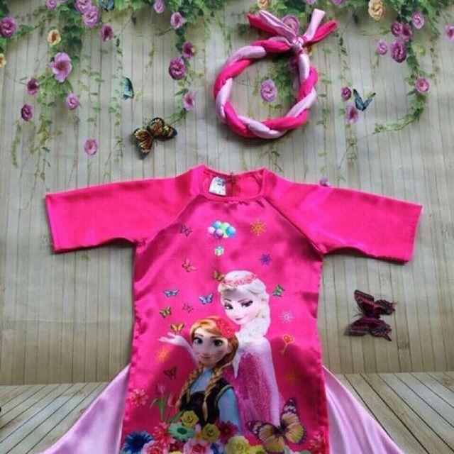 áo dài elsa cho bé gái kèm mấn - 2819805 , 160697658 , 322_160697658 , 250000 , ao-dai-elsa-cho-be-gai-kem-man-322_160697658 , shopee.vn , áo dài elsa cho bé gái kèm mấn