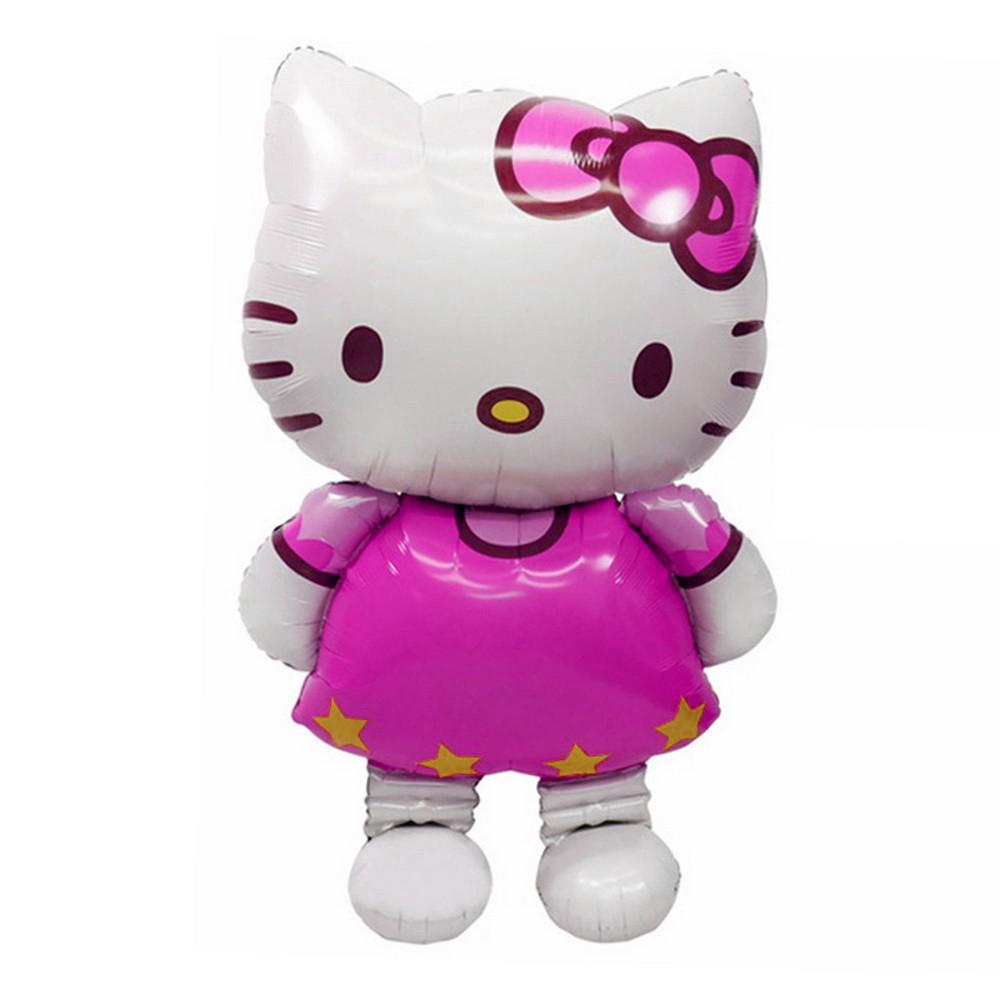 Large Size Hello Kitty Cat Foil Balloon Medium Cartoon Wedding Birthday Party
