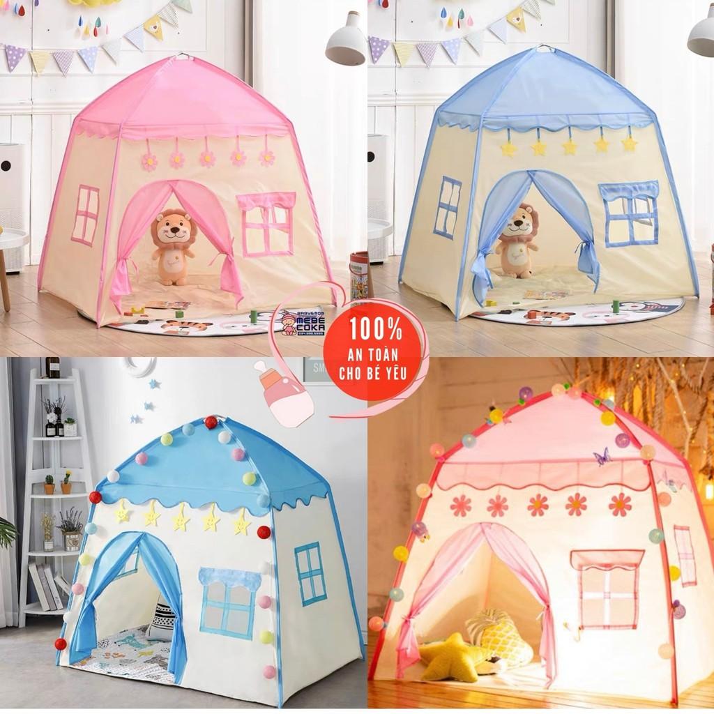 Lều cho bé ,lều công chúa hoàng tử cắm trại gồm 2 màu xanh hồng loại CAO CẤP (mẫu mới 2021)