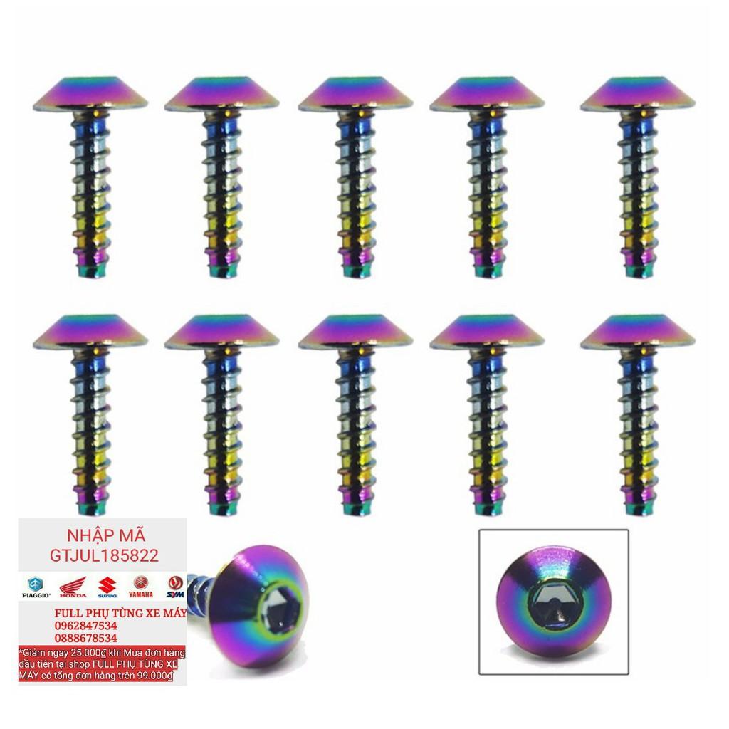 Bộ 10 ốc vít xoắn dàn áo kiểu Dù Lục Giác 5x15mm - 2449629 , 1345906747 , 322_1345906747 , 88000 , Bo-10-oc-vit-xoan-dan-ao-kieu-Du-Luc-Giac-5x15mm-322_1345906747 , shopee.vn , Bộ 10 ốc vít xoắn dàn áo kiểu Dù Lục Giác 5x15mm