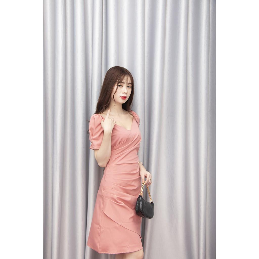 Đầm thiết kế 💙HÀNG LOẠI 1💙 Đầm thiết kế hồng phấn tay bông