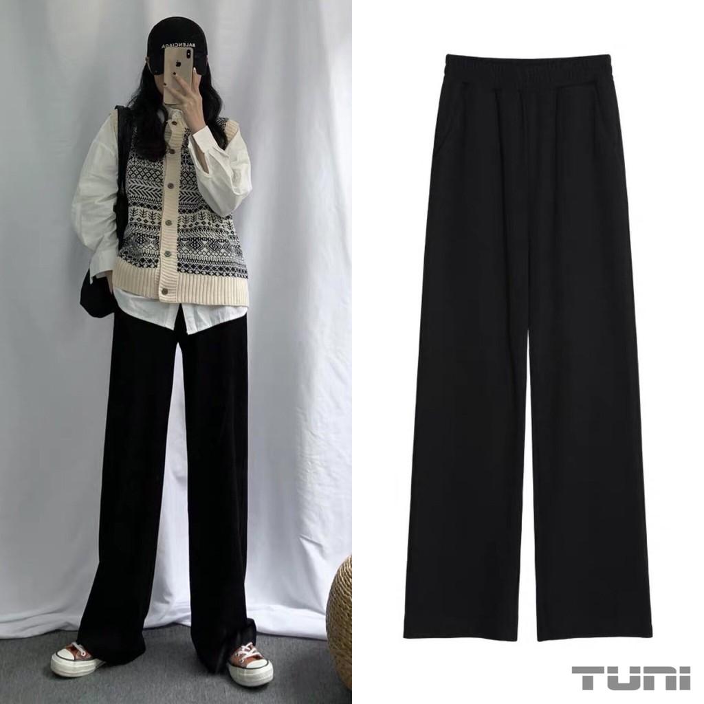 Quần Nữ Lưng Cao Ống Rộng SIMPLE PANT Vải Tây Thanh Lịch - Tuni Store