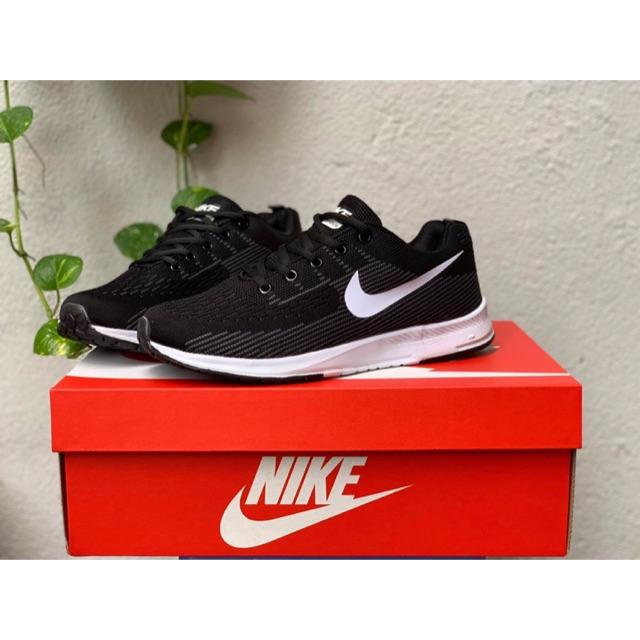 Giày nam sneaker thể thao đen trắng - kèm hộp xịn