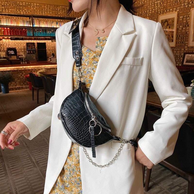 Túi bao tử mini đeo bụng túi bao tử đeo chéo nữ mẫu mới nhất DBUNGRAN01 +ảnh thật