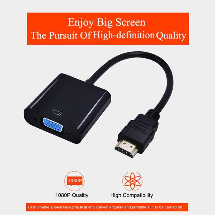 CÁP CHUYỂN ĐỔI HDMI TO VGA HỔ TRỢ JACK 3.5MM
