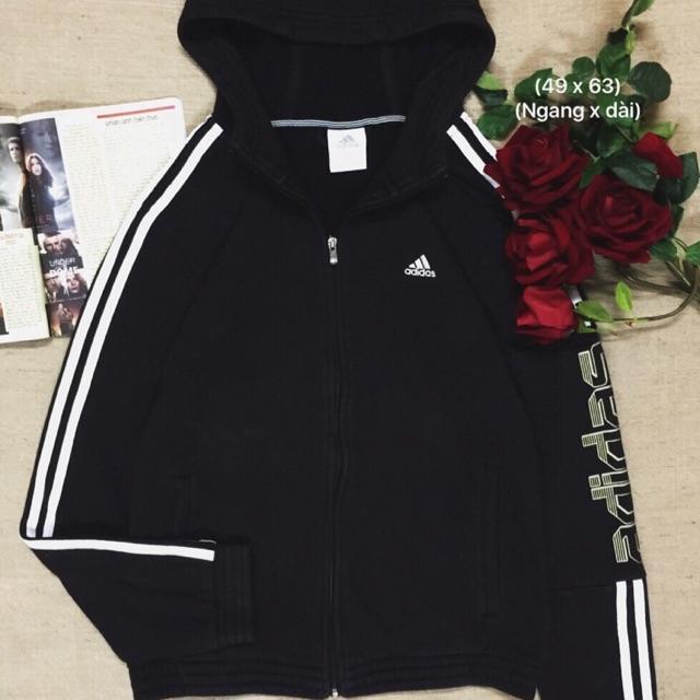 Áo hoodie zipper adidas