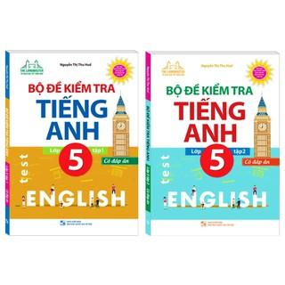 Sách - Combo Bộ đề kiểm tra tiếng Anh lớp 5 - Có đáp án