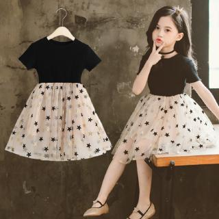 Lovely fashion pattern chiffon dress for girls
